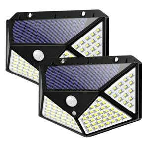 Luci-Solari-LampaDe-da-Esterno-un-100-Led-con-Sensore-di-Movimento-Lampada-S4G9