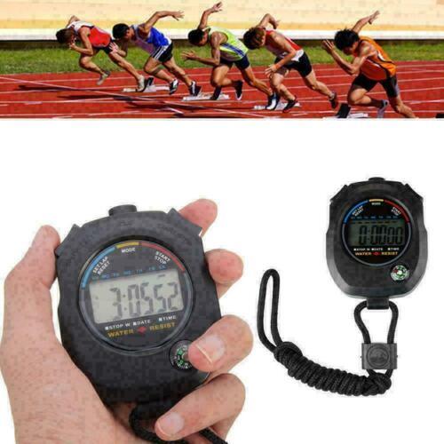 Digital Handheld Sport Fitness Stoppuhr Timer Alarm Zähler Geschenk