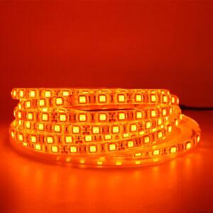 5m-Orange-LED-Strip-light-5050-3528-SMD-Waterproof-12V-Indoor-Outdoor-tape-lamp