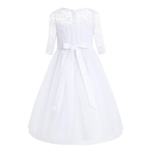 Mädchen Prinzessin Fest Kleid Abendkleid Blumenmädchen Party Hochzeit Festkleid