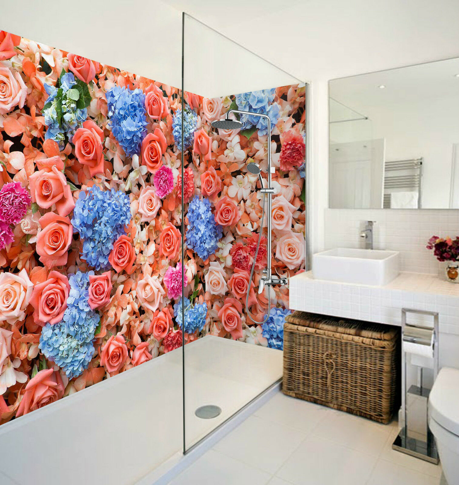 3D Farbeful Flowers 134 WallPaper Bathroom Print Decal Wall Deco AJ WALLPAPER CA