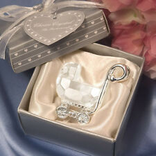 12 Choice Crystal Baby Carriage Baby Shower Favors