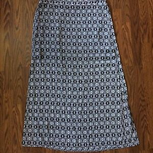 45e6d4dcc Maurices Maxi Skirt Mini Skirt Size XL Black White Geometric Pattern ...