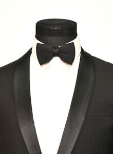 698b620b5059 Mens FERUCCI Knitted Bow Tie - Black Silk Bowtie, Mens big bow tie ...