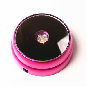 New-3-LED-Light-Round-Display-Stand-Base-For-Crystal-Ball-Paperweight-Glass-Rose