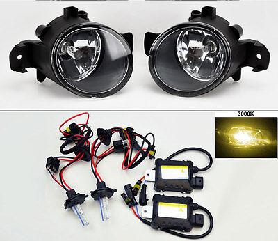 Glass Fog Lights Pair RH LH FITS Nissan Altima Maxima Rogue Sentra + 3000K HID