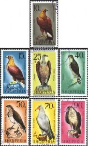Albanien-1124-1130-kompl-Ausg-gestempelt-1966-Raubvoegel