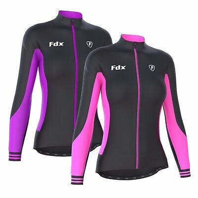 FDX Women/'s Cycling Jersey Full Sleeve Roubaix Cold Wear Thermal Biking Jacket