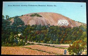 1940s-Stone-Mountain-Confederate-Museum-Man-Looking-On-Atlanta-Georgia