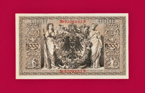 in High Grade Pick - 44b 1000 Mark Germany 1910 AUnc+ Reichsbanknote SCARCE