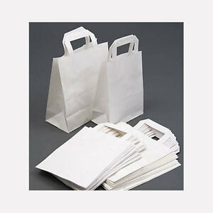 100-White-SOS-Paper-Carrier-Food-Bags-Small-9-034-x7-034-x3-5-034