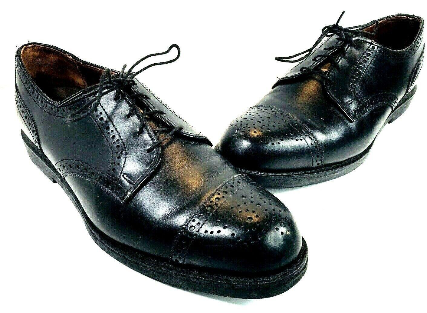 Allen Edmonds 6111 Lake Forest Homme Noir Mollet Cap Toe Orthotic   Chaussures 10 D