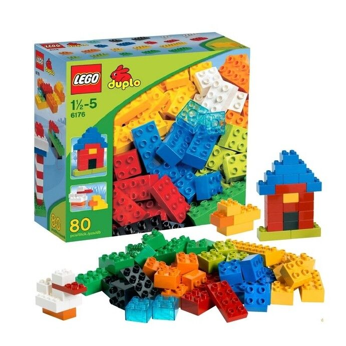 LEGO DUPLO 6176 Basic Bricks Retirot 80 PCS Blocks Discontinued by Manufacturer