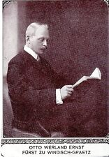 Otto Werland Fürst zu Windisch-Graetz Historische Memorabile K.K.Monarchie 1908
