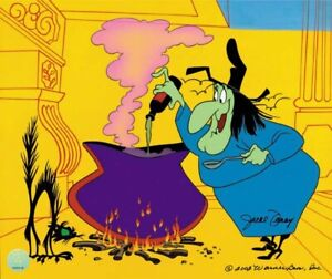 Warner Brothers-Limited Edition Cel-Broomstick Bunny-Witch Hazel-Signed by Foray