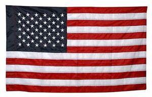 cd09bf827969 USA Nylon Large American Flag with 50 STARS   SLEEVE ~ 3  x 5