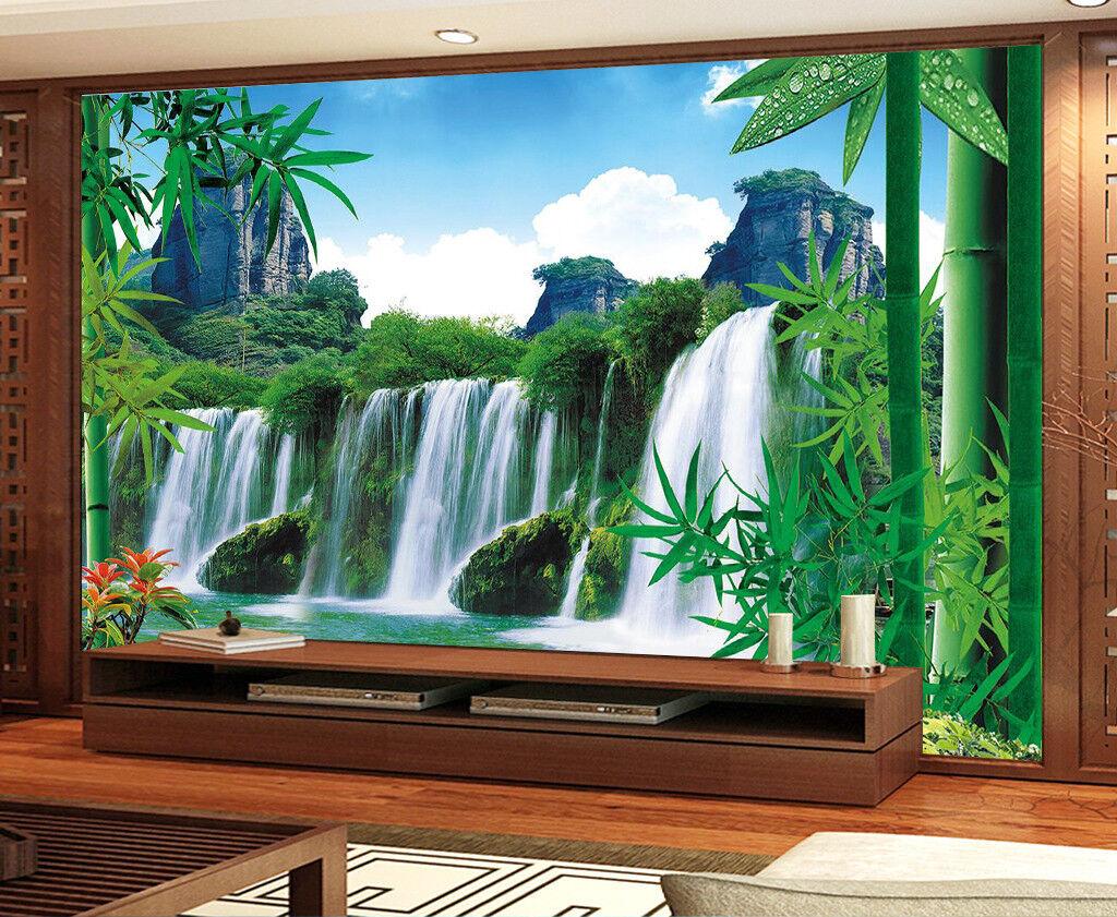 3D Jahreszeit Wasserfall 9873 Tapete Wandgemälde Tapeten Bild Familie DE Jenny