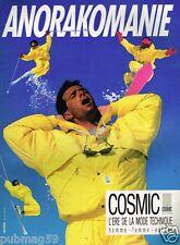 Publicité advertising 1987 Les Vetements de ski Cosmic