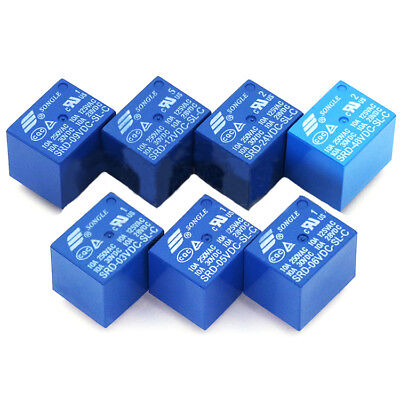 3V 5V 6V 9V 12V 24V 48V DC Mini Power Relay SPDT 10A PCB Mount 5 Pins SONGLE UK