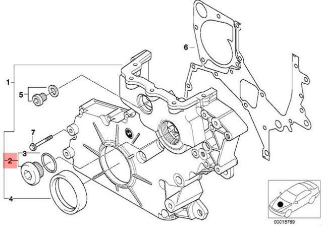 Radiator Fillister-Head Screw Genuine for BMW BMW E30 E34 E36 E39 3 5 Z-Series