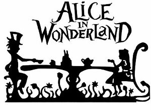 Cut Vinyl Wall Art Sticker Alice In Wonderland For Frames Craft Etc