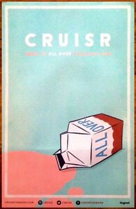 CRUISR-All-Over-Ltd-Ed-New-RARE-Tour-Poster-FREE-Indie-Rock-Poster-THE-1975