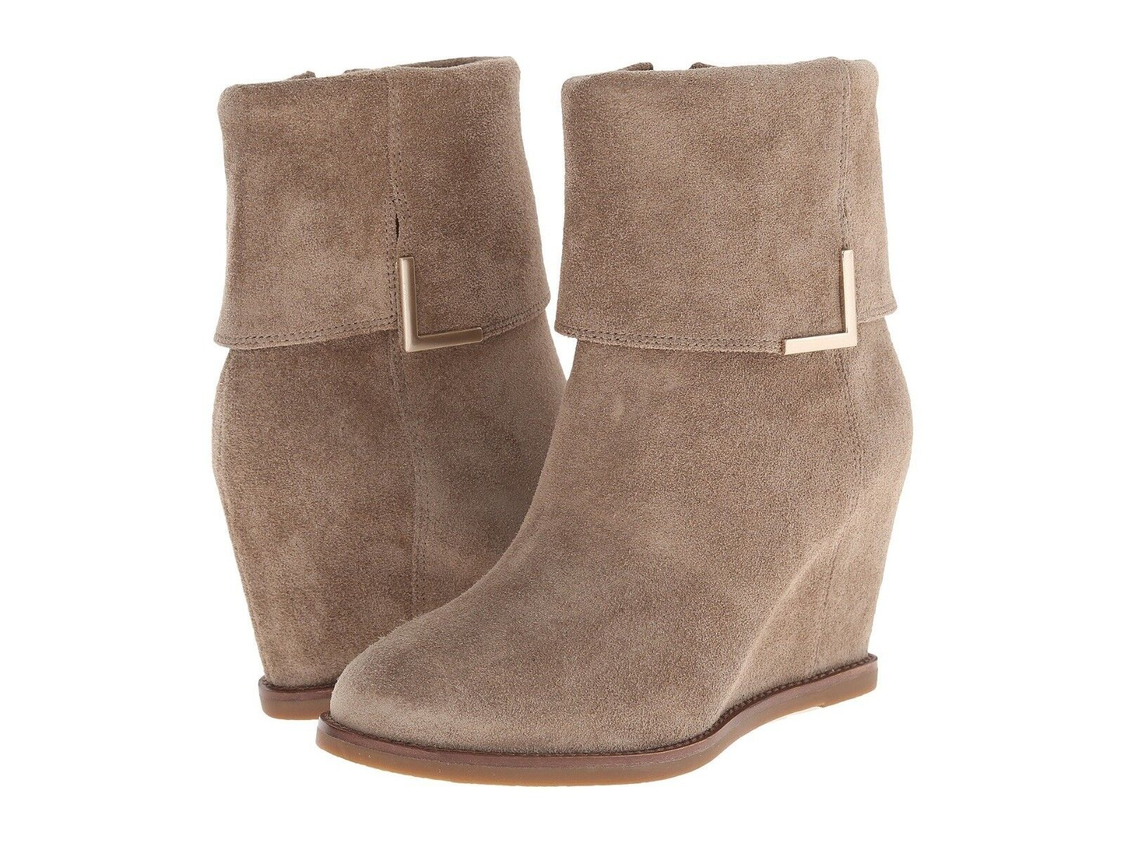 NEW NIB JOHNSTON & MURPHY Taupe Oiled Suede BRYNN Cuff  Ankle Bootie Sz 9 M