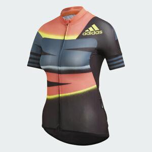 Adidas-Women-039-s-Adistar-Cycling-Jersey-FJ6600-Indigo-Solar-Red-Sz-Small-NEW