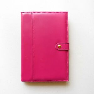 Rose A5 Lined Paper Notebook Journal Uni Notes Travel Removable Cover PU Leather