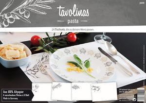 Tavolinas-Papier-Tischset-Pasta-weiss-24-Blatt-individuell-beschriftbar