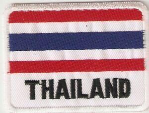 Aufnäher THAILAND   Größe ca.7,2x5,4-Sammlung-Kutte-Fan-NEU