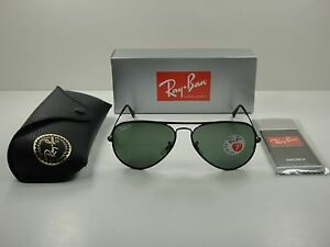 dffa3072b7cfa Image is loading RAY-BAN-AVIATOR-POLARIZED-SUNGLASSES-RB3025JM-002-58-