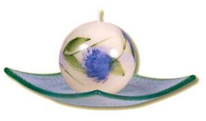 Dekorkerze-Kerzen-Kugel-034-Sommerblume-034-blau-60-mm