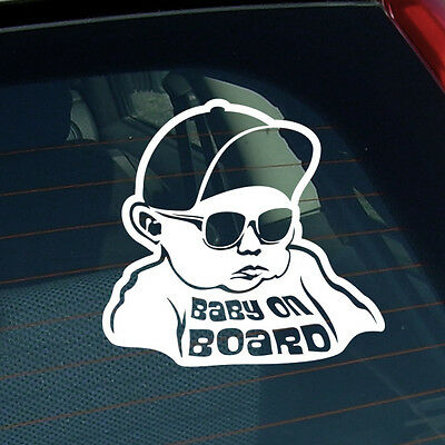 Baby on board sticker car van vinyl decal funny window bumper child kid jdm cool