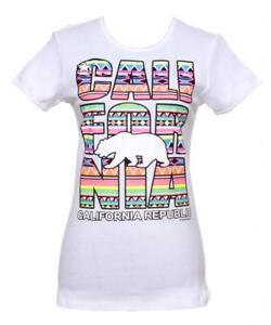 Womens-California-Republic-Tribal-Short-Sleeve-T-Shirt