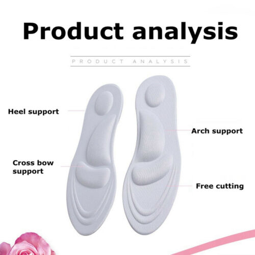 4D Sponge Shoe Pad Pain Relief Soft Insoles Breathe Support Foot Care Health New
