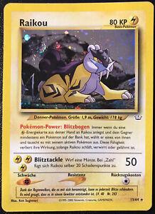 Pokemon-Neo-Revelation-Raikou-13-64-Holo-Rare-Lightly-Played-German