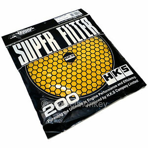 HKS Super Power Replacement Air Intake Filter 3 Layer yellow For 200MM