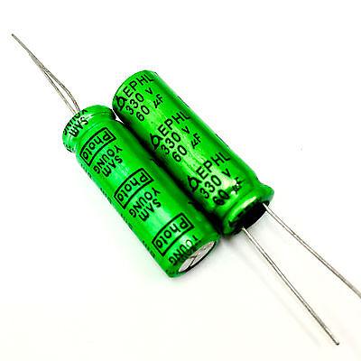 5pcs 330V 60uf 330V SAMYOUNG EPHL 10X30mm PH Photo Flash capacitor