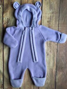 5057282af L L Bean Snowsuit size 3 6 Months One Piece baby bunting Coat Fleece ...