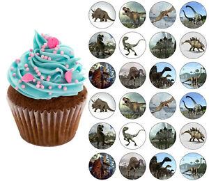Dinosaurier eßbar Muffin Tortenbild Tortenaufleger Party Deko Geburtstag Cupcake