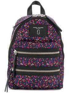 66f27af3196 Marc Jacobs Mixed Berries Nylon Mini Biker Backpack Blue BLK Pink Multi
