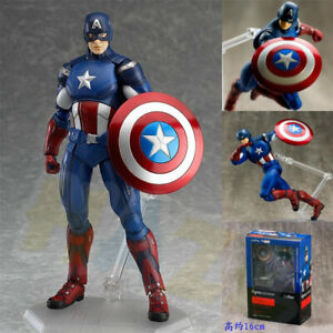 The-Captain-America-Figma-PVC-Action-Figure-Toy-Movable-6-034-In-Box-Collection