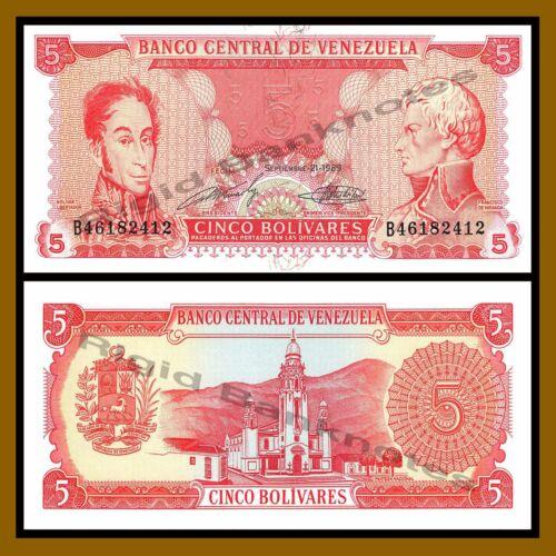 1989 P-70 Unc Venezuela 5 Bolivares x 50 Pcs Bundle
