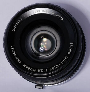 Sigma 28mm f 2.8 Multi-Coated Mini-Wide Lens Canon FD Pre-Owned, For ... 9fb228d8d9