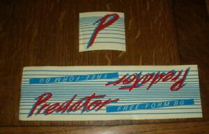 NOS Vintage Old School BMX Predator Qualifier Frame Stickers