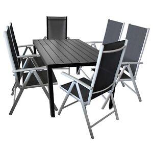 Gartenmobel Set Positionsstuhl Textilen Alu Polywood Gartentisch
