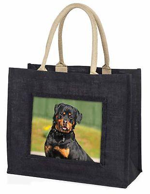 Rottweiler Hund große schwarze Einkaufstasche Weihnachten Geschenkidee,ad-rw6blb