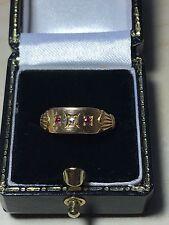 Victorian 18ct Yellow Gold, Ruby & Diamond Ring. Size K1/2. U.S.Size 5.75