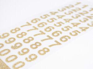 15mm Script Gold Glitter Self Adhesive Numbers Craft Embellisment AC-08